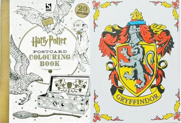 Harry Potter Postcard Colouring Book A Review