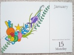Johanna Basford 2018 Page a Day Calendar - Colour a small image every day of the year and display in the beautiful keepsake box - click through to read my review and see more images!