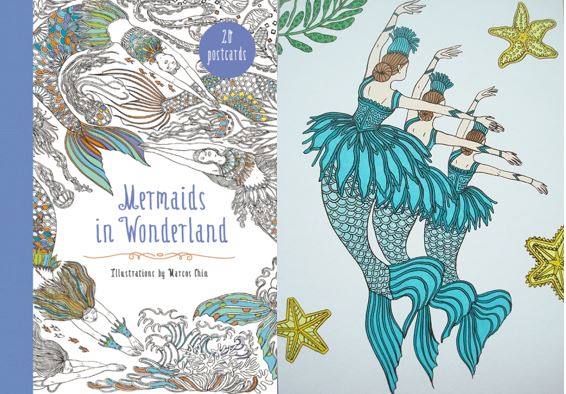 Mermaids in Wonderland 20 Postcards - Click through to read my review, see photos and a video flick-through of this gorgeous set!