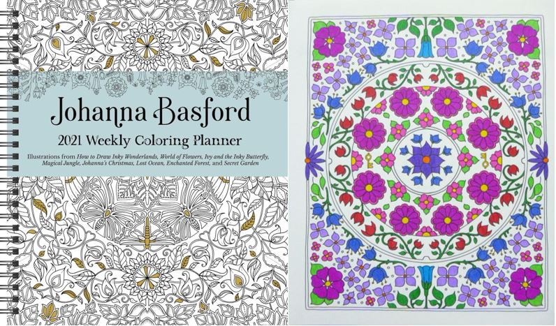 Johanna Basford 2021 Weekly Colouring Planner – A Review Colouring In The  Midst Of Madness
